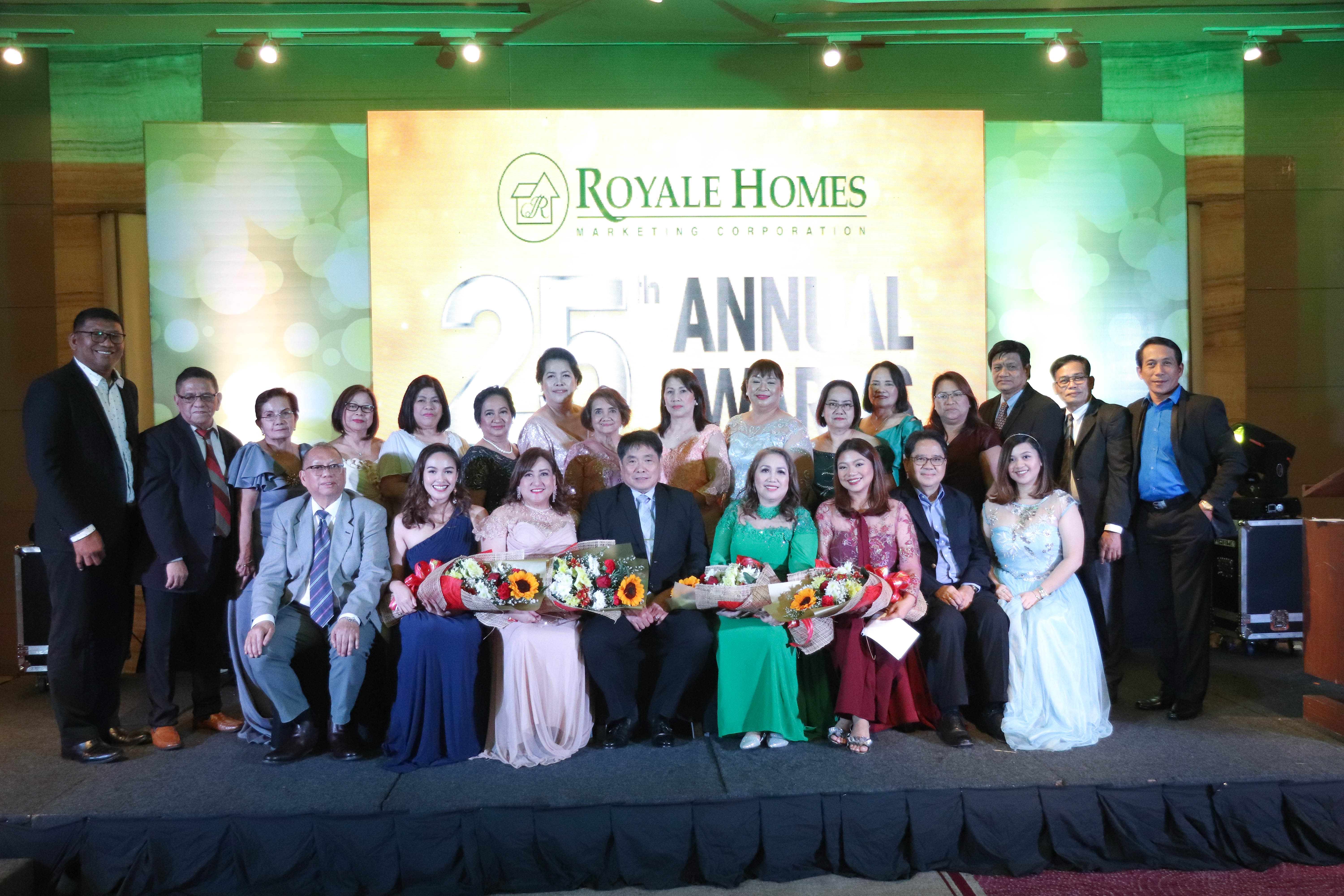 Top sellers, brokers feted at Royale Homes' 25th Annual Awards